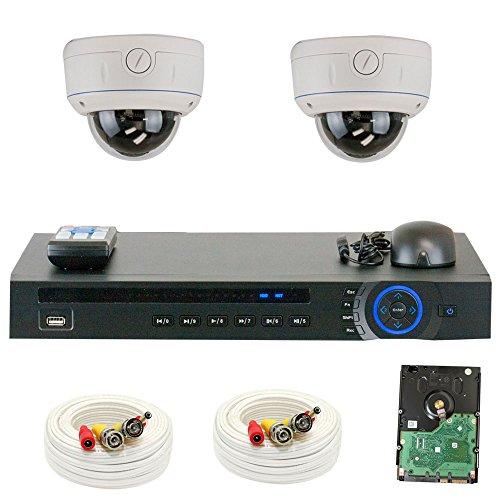 GW Security 1080P HD-CVI 16 Channel Video Security Camera System - Twelve 2MP Weatherproof 2.8-12mm Varifocal Zoom Dome Cameras, 30-IR LED 80ft Night Vision