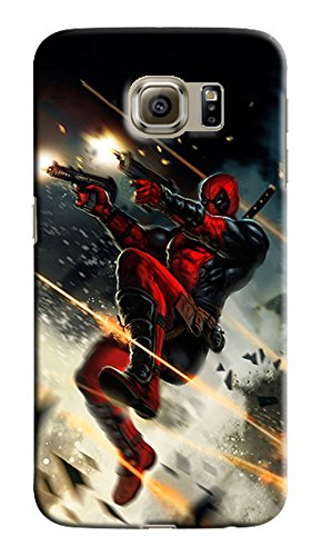 Deadpool, Other Characters & Emblems for Samsung Galaxy S6 Edge Plus + Hard Case Cover (Zbor29)