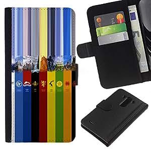 JackGot ( Colores GOT ) LG G3 la tarjeta de Crédito Slots PU Funda de cuero Monedero caso cubierta de piel