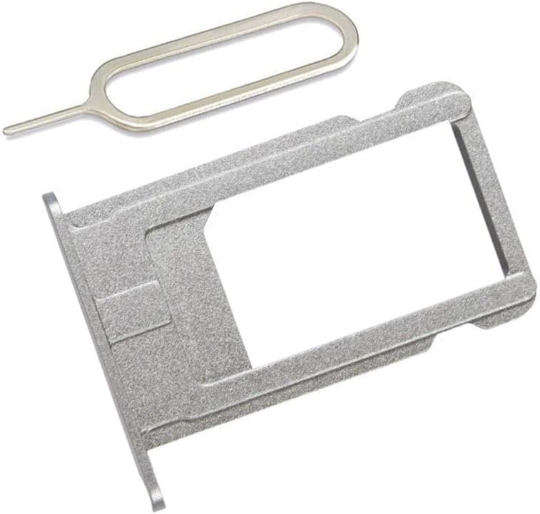 LIBAI-V SIM Card Slot Holder Replacement Part for iPhone 6 Plus Incl Eject Pin + Cloth (Gray)