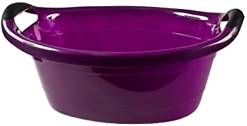 Vasca Da Bagno Litri : Vasca in plastica per vasca da bagno; 14 litri; viola 50 x 38 x 18