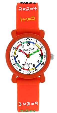 Pacific Time First Kinder Armbanduhr Lernuhr 1x1 Armbanduhr Mädchen