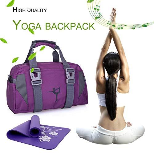 Mouchao La Borsa Impermeabile Multifunzionale di Yoga Femminile delle Donne degli Uomini della Borsa della Palestra degli Uomini Impermeabili Viola
