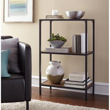 Mainstays Metro 3-Shelf Bookcase, Warm Ash Finish (Mainstays 3 Shelf Bookcase)
