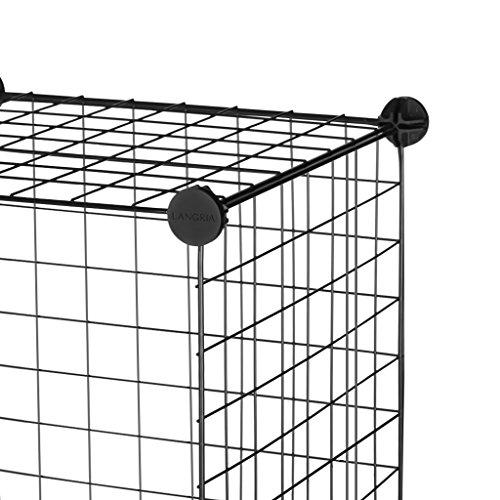 cheap langria metal wire storage cubes  modular shelving grids  diy closet organization system