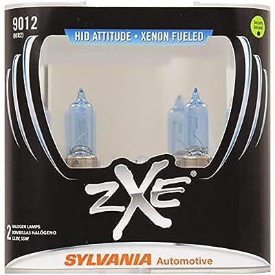 SYLVANIA - 9012 (HIR2) SilverStar zXe High Performance Halogen Headlight Bulb - Bright White Light Output, HID Attitude, Xenon Fueled Technology (Contains 2 Bulbs): Automotive
