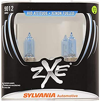SYLVANIA - 9012 (HIR2) SilverStar zXe High Performance Halogen Headlight Bulb - Bright White Light Output, HID Attitude, Xenon Fueled Technology (Contains 2 ...