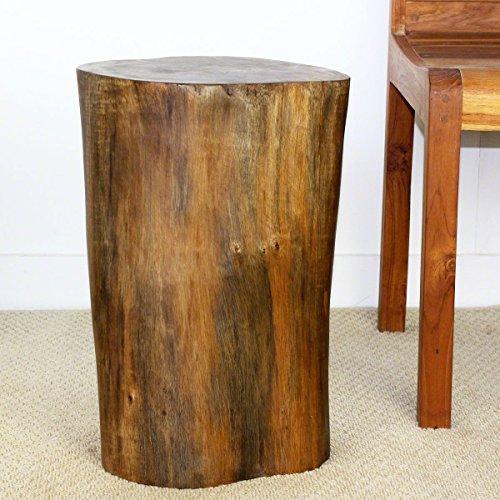 Strata Furniture TET1520 Twist Side Table, Walnut, 15