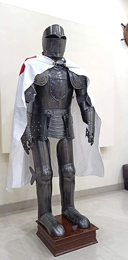 Amazon.com: Medieval gótico Knight Wearable Armor Full traje ...