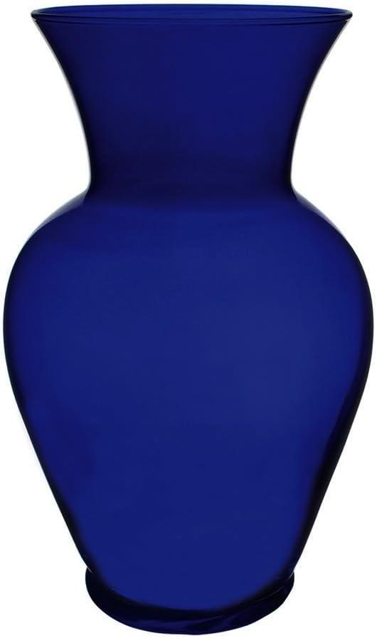 """Floral Supply Online 8 3/4"""" Cobalt Blue Spring Garden Vase - Decorative Glass Flower Vase for Floral Arrangements, Weddings, Home Decor or Office."""