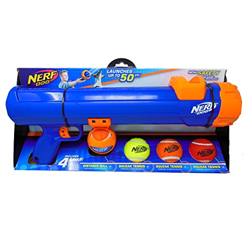 Nerf Dog 20inch Tennis Ball Blaster Gift Set with 4 Tennis Balls