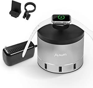 Alxum 4 Port USB Charging Stand Dock for Apple Watch/Smartphone