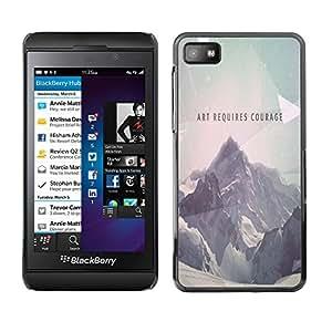 EJOY---Cubierta de la caja de protección la piel dura para el / Blackberry Z10 / --Arte Requiere Coraje