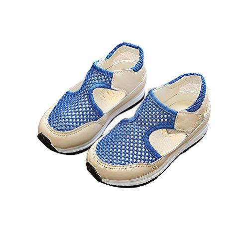 KVbaby Kinder Sommer Wanderhalbschuhe Freizeit Aquaschuhe Ineinander Laufschuhe Atmungsaktiv Sport Sandalen Blau