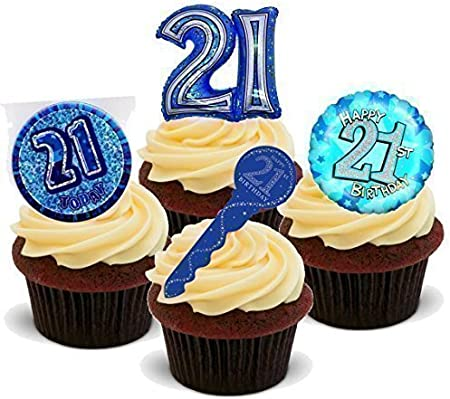 Awe Inspiring Baking Bling Novelty 21St Birthday Party Mix Male Man Blue Personalised Birthday Cards Petedlily Jamesorg
