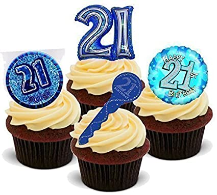 Baking Bling NOVELTY 21ST BIRTHDAY PARTY MIX Male Man Blue