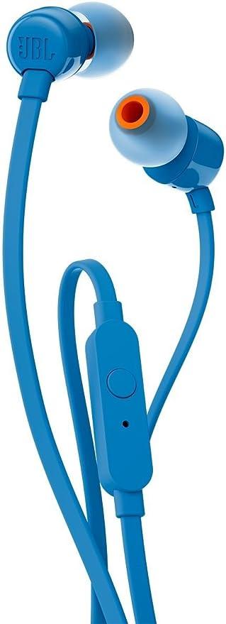 JBL T110 Dentro de oído Binaurale Alámbrico Azul - Auriculares (Binaurale, Dentro de oído