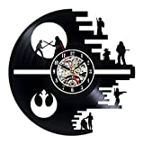 Cheap Decorative Vinyl Record Wall Clock Gift Star Wars Design