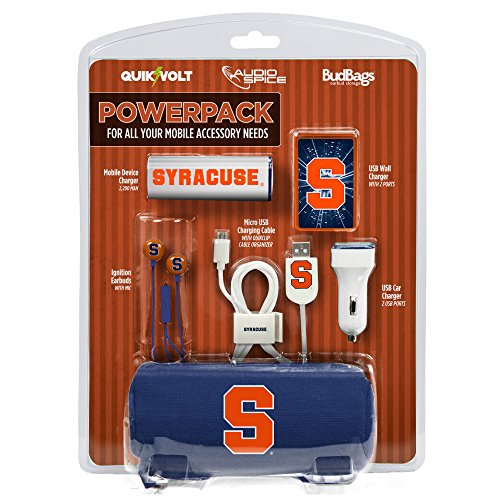 Syracuse Orange Mobile Accessory PowerPack with Micro USB Cable by QuikVolt