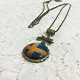 Dreamcosplay Axis Powers Hetalia Sweden Logo Girl Necklace Cosplay