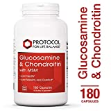 Cheap Protocol For Life Balance – Glucosamine & Chondroitin with MSM – Supports Healthy Joint Function and Comfort – Promotes Stronger Bones and Cartilage – 180 Capsules
