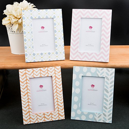 9 SETS of 4 Delicate Pastel Shaded 4 x 6 Photo Frames by Fashioncraft