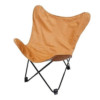Amazon.com: Silla reclinable plegable con mariposa, asiento ...