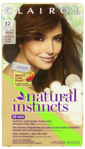 Clairol Natural Instincts Haircolor, Toasted Almond Light Golden Brown 12