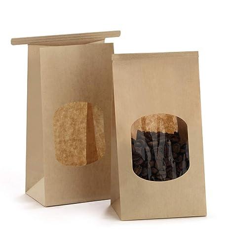 bagdream panadería bolsas con ventana de cera papel Kraft ...