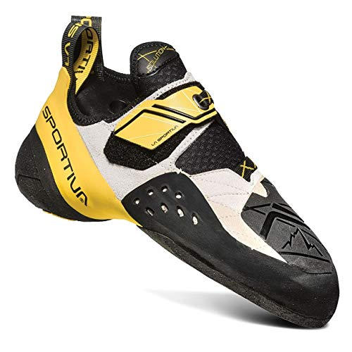 La Sportiva Men's Solution Climbing Shoe, White/Yellow, 39.5
