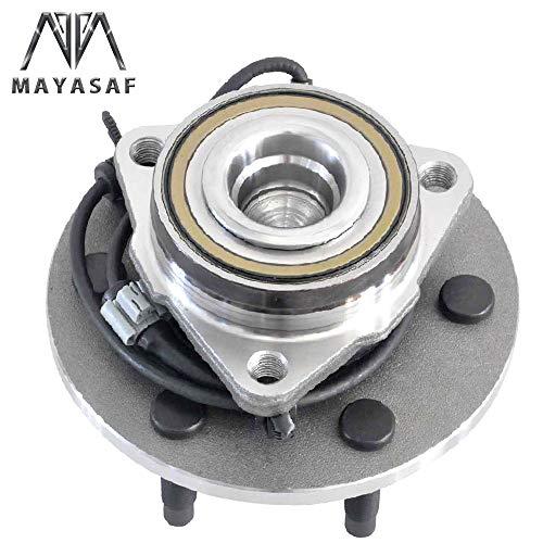 MAYASAF 515054 Front Wheel Hub and Bearing Assembly 6 Lug w/ABS for 2WD Models Only Fit CHEVROLET Silverado/Express/Avalanche/Suburban 1500, GMC Savana Sierra Yukon, CADILLAC Escalade