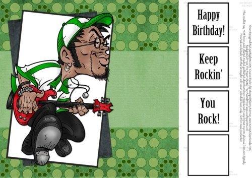 Groove Dude... maschio chitarrista di compleanno, 8 x 8 by Lisa Baglietto 8x 8by Lisa Baglietto Craftsuprint