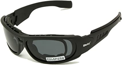 EnzoDate Daisy C6 polarizado Gafas de Sol Gafas de Militares del ejército de ballstic RX Insert Agencia de Guerra Juego tactico Gafas