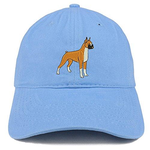 Trendy Apparel Shop Boxer Dog Breed Embroidered Brushed Cotton Dad Hat Cap - Carolina ()