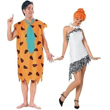 Disfraces años 60 para hombre y mujer de Fred y Wilma Picapiedra