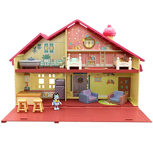 """Bluey Family Home Playset with 2.5"""" poseable Figure"""