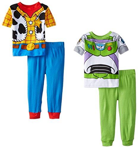 Disney Little Boys' Toy Story Best Of Pals 4 Piece Pajama Set, Multi, 4T