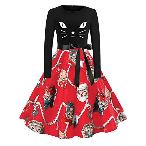 Landfox Dress,Big Women Vintage 1950s Retro Rockabilly Prom Dresses Cap-Sleeve Red from Landfox
