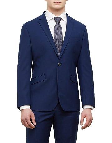 fdeff73ee493 Kenneth Cole REACTION Men's Techni-Cole Stretch Slim Fit Suit Separate  (Blazer, Pant