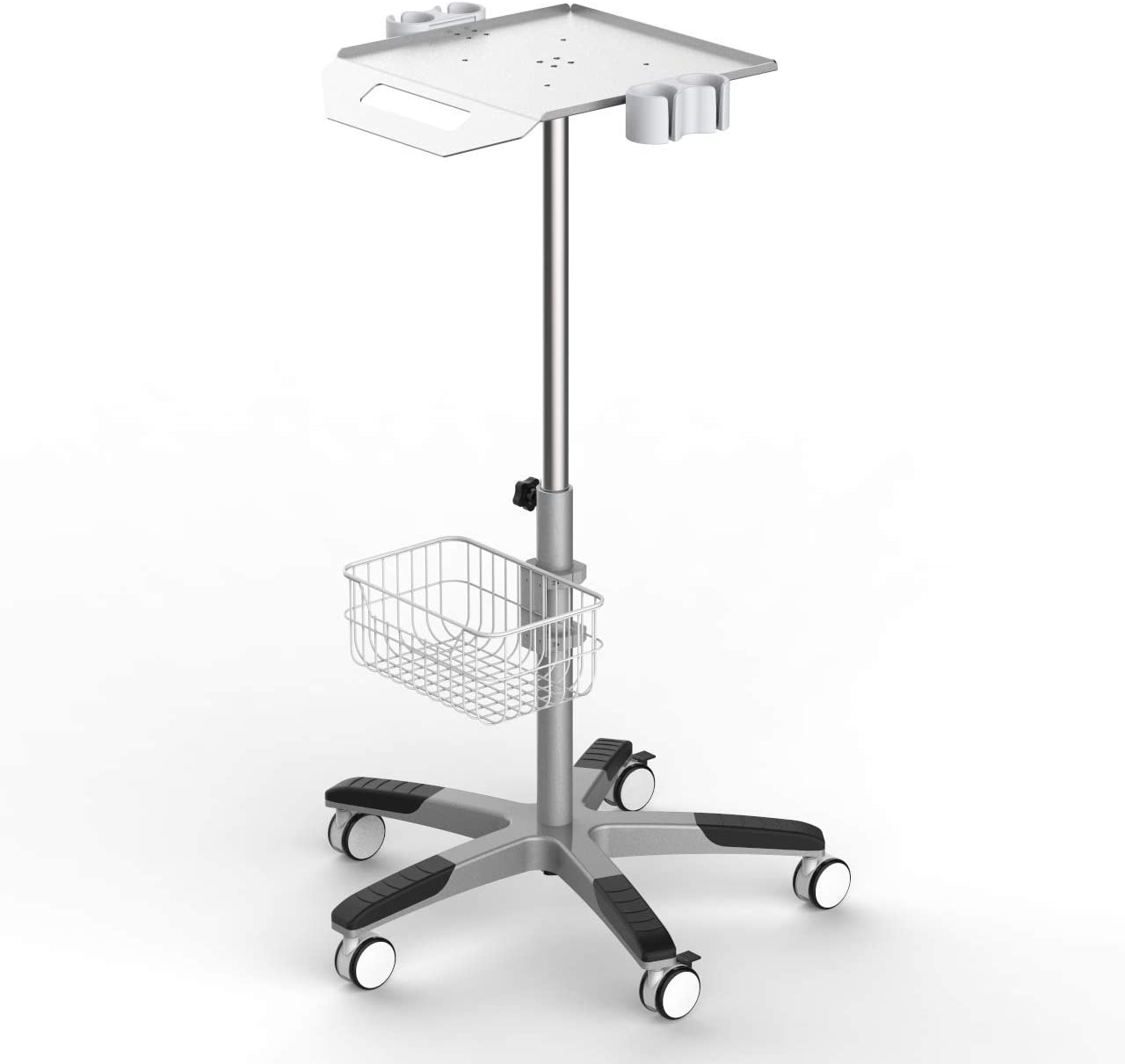 Mobile Rolling Cart for Ultrasound Imaging System Adjustable Height, Best for LCD Display Scanner.