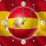 Rikki Knight Russia World Cup 2018 Spain Team Football Soccer Flag Design 6'' Art Desk Clock