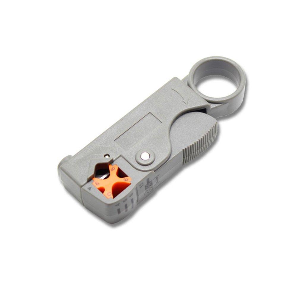 Royalr Rotary Coaxial Cable Coaxial RG58 RG59 Herramienta del Cortador RG6 Material de Alto Impacto Pelacables