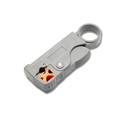 Zerama Rotary Coaxial Cable Coaxial RG58 RG59 Herramienta del Cortador RG6 Material de Alto Impacto Pelacables
