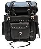 Grand Voyager SB1 Black PU Leather Motorcycle Motorbike Bike Luggage Saddle Panniers Bag