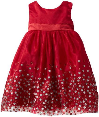 Blueberi Boulevard Baby Girls' Mesh Glitter Special Occasion Dress