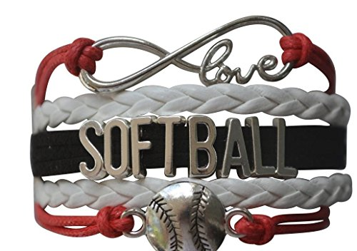 Infinity Collection Softball Bracelet- Softball Jewelry - (12 Styles) Perfect Softball Player, Team and Coaches Gifts (Best Gifts To Get Your Girlfriend For Christmas)