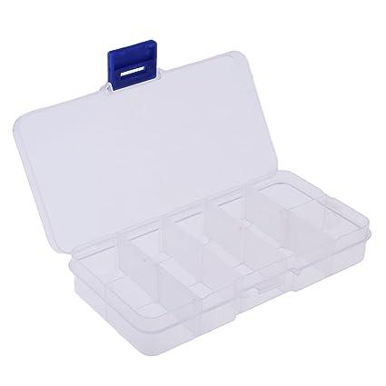 NON Sharplace Caja de Almacenamiento Estuche Plástico Claro con Rejillas para Almacenar Pieza Pequeña de Modelo
