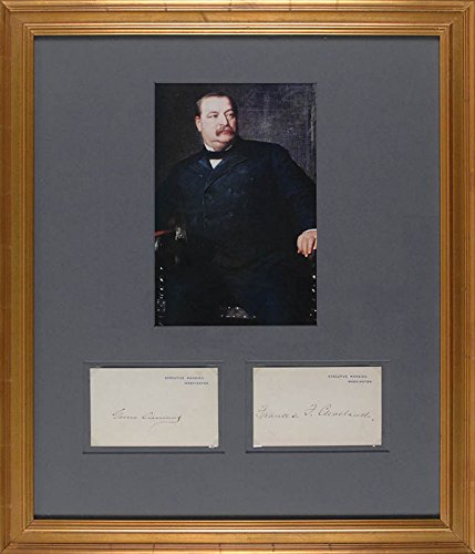 president-grover-cleveland-first-lady-frances-cleveland-sign-executive-mansion-cards