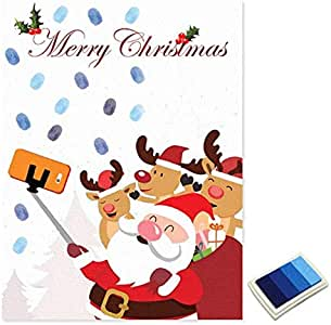 Fanyong Pintura de la Huella Digital de Navidad Libro