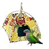 Alwaysuc Bird toys Bird Hammock Parrot Hanging Tent Budgerigar Dual Layer Nest Parakeet Cave Tent for Medium Birds
